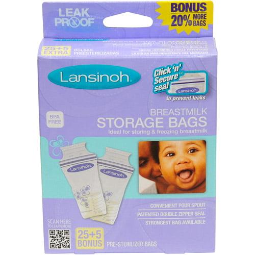 Lansinoh Breastmilk Storage Bags, 30 ct