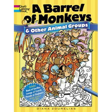 Dover Coloring Books: A Barrel of Monkeys and Other Animal Groups - Barrel Of Monkeys Bulk