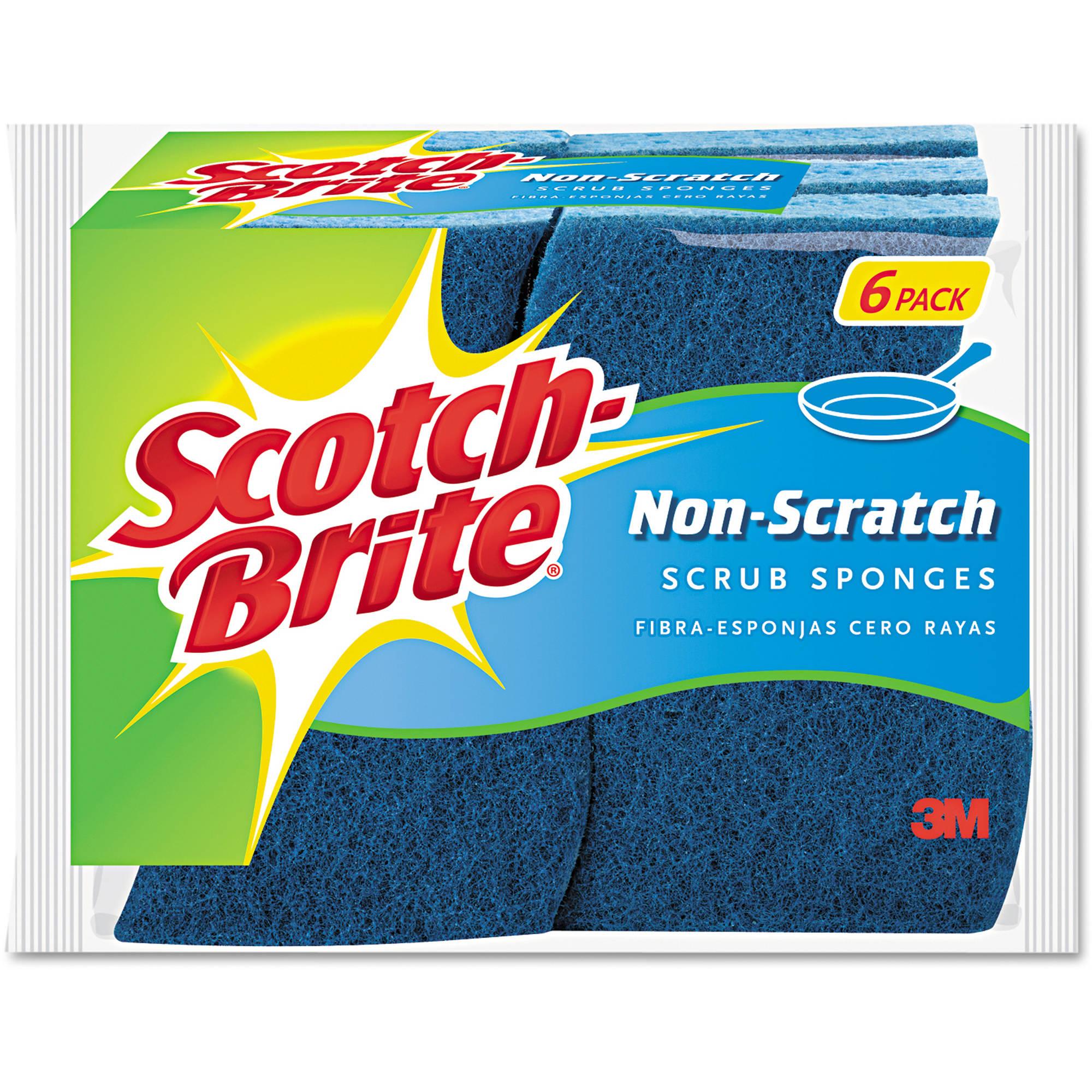 Scotch-Brite No Scratch Multi-Purpose Blue Scrub Sponge, 6pk