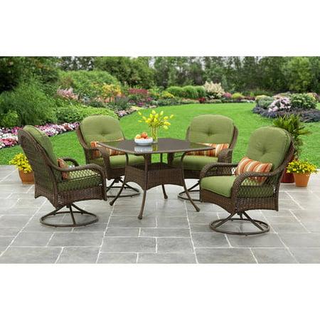 Better Homes And Gardens Azalea Ridge 5 Piece Outdoor Dining Set Green