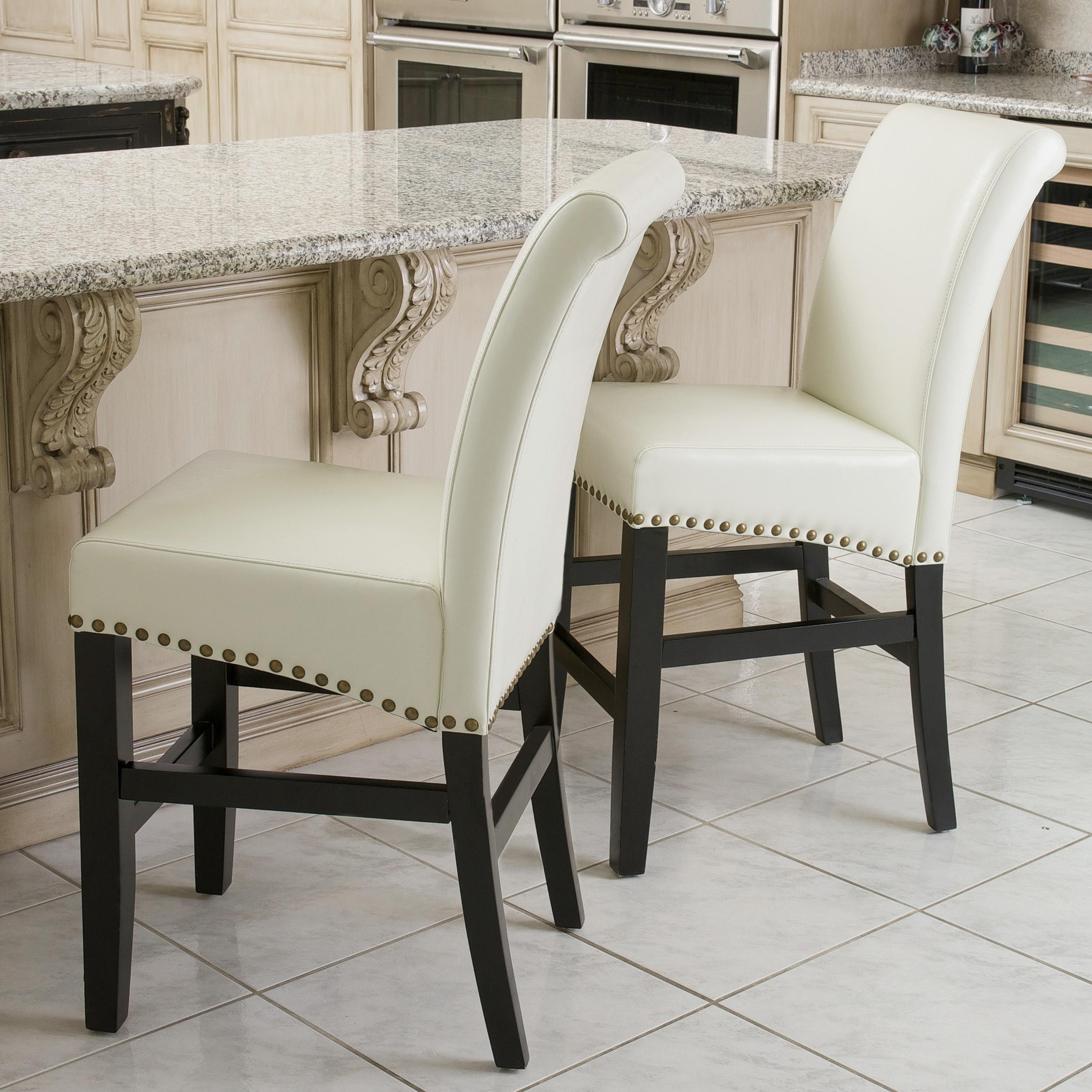 Christopher Knight Home Lisette Leather Counter Stool (Se...