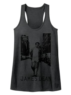 56344bd4dbbcf Product Image James Dean 1950 s American Heartthrob Walk the Walk Womens  Racerback Tank Top Tee