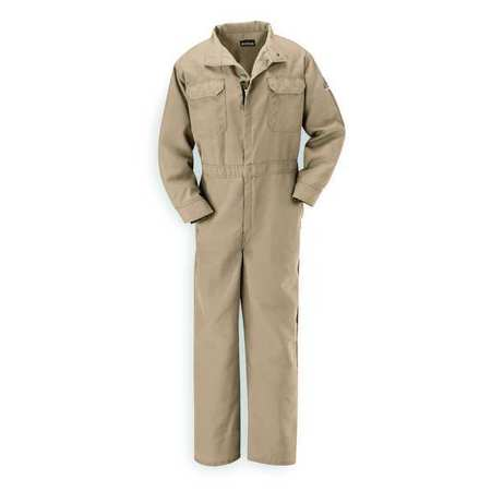 Bulwark Flame Resistant Coverall, Tan, Nomex(R), 4XL, CNB...