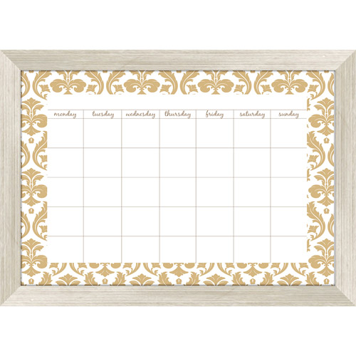 Gold Damask Monthly Calendar Whiteboard