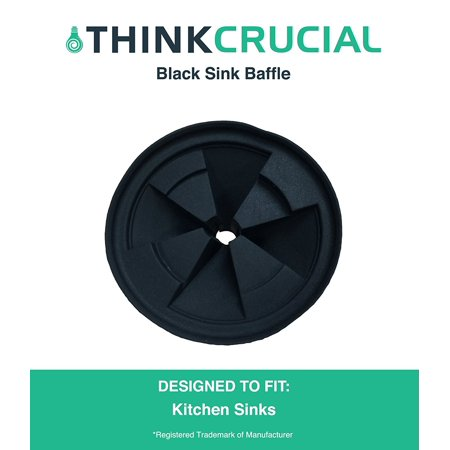 Durable Replacement Quiet Collar Black Sink Baffle, Fits InSinkErator Evolution Disposal, Part # QCB-AM, by By Think Crucial