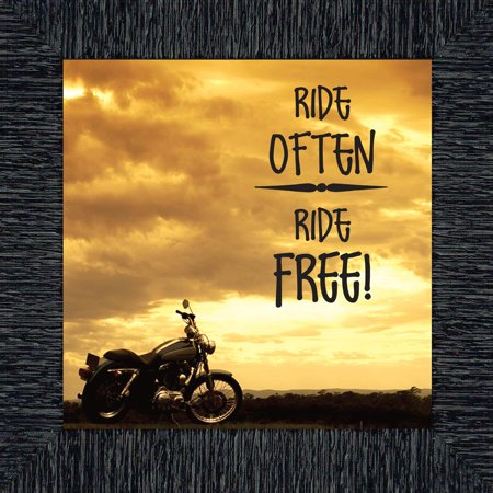 Ride Often Ride Free, Classical Motorcycle Picture Frame, 10x10 (Motorcycle Frame)