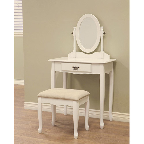 Home Craft 3-Piece Queen Ann Vanity Set, Multiple Colors
