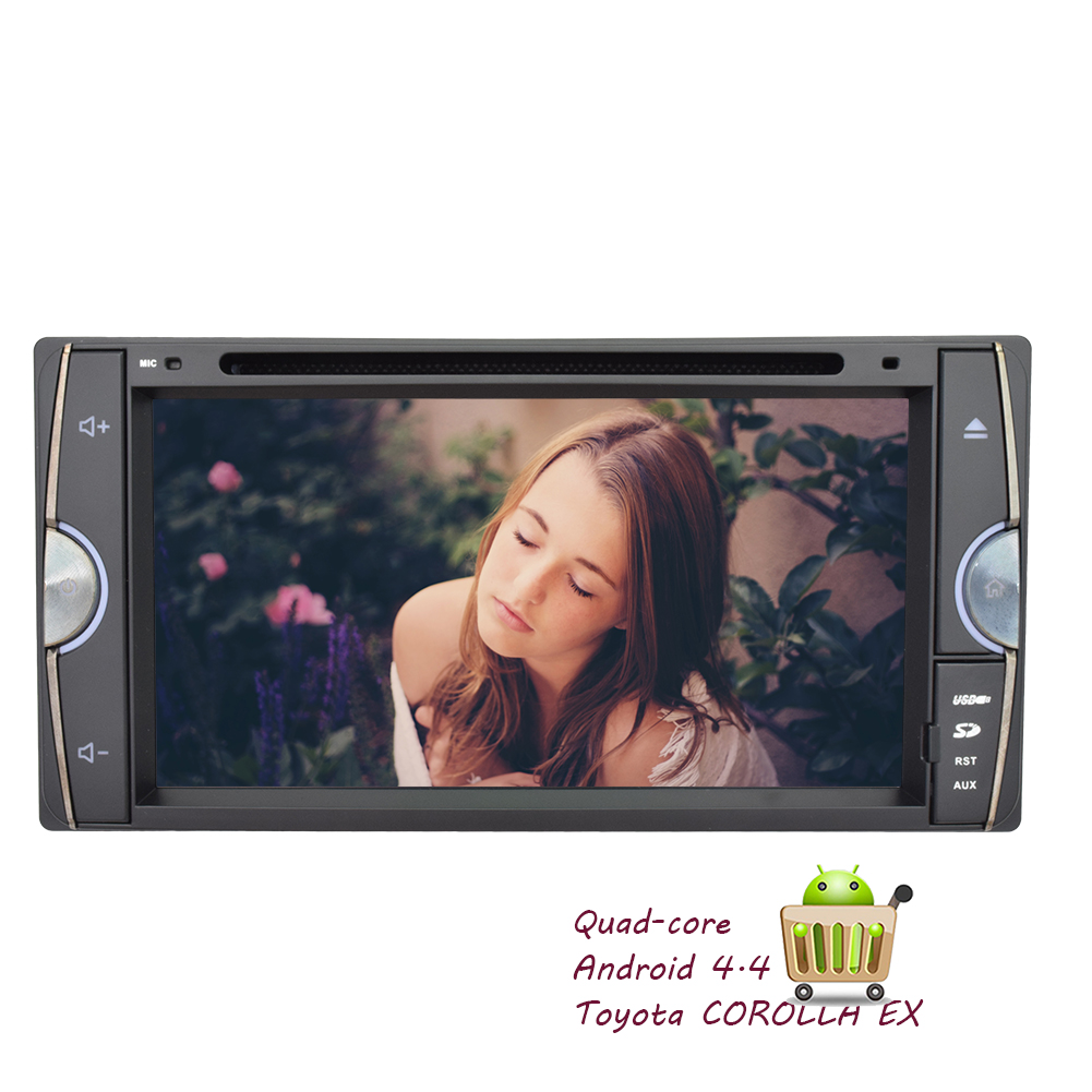 Android 4.4 OS Capacitive Touchscreen 3D GPS PC Auto radi...