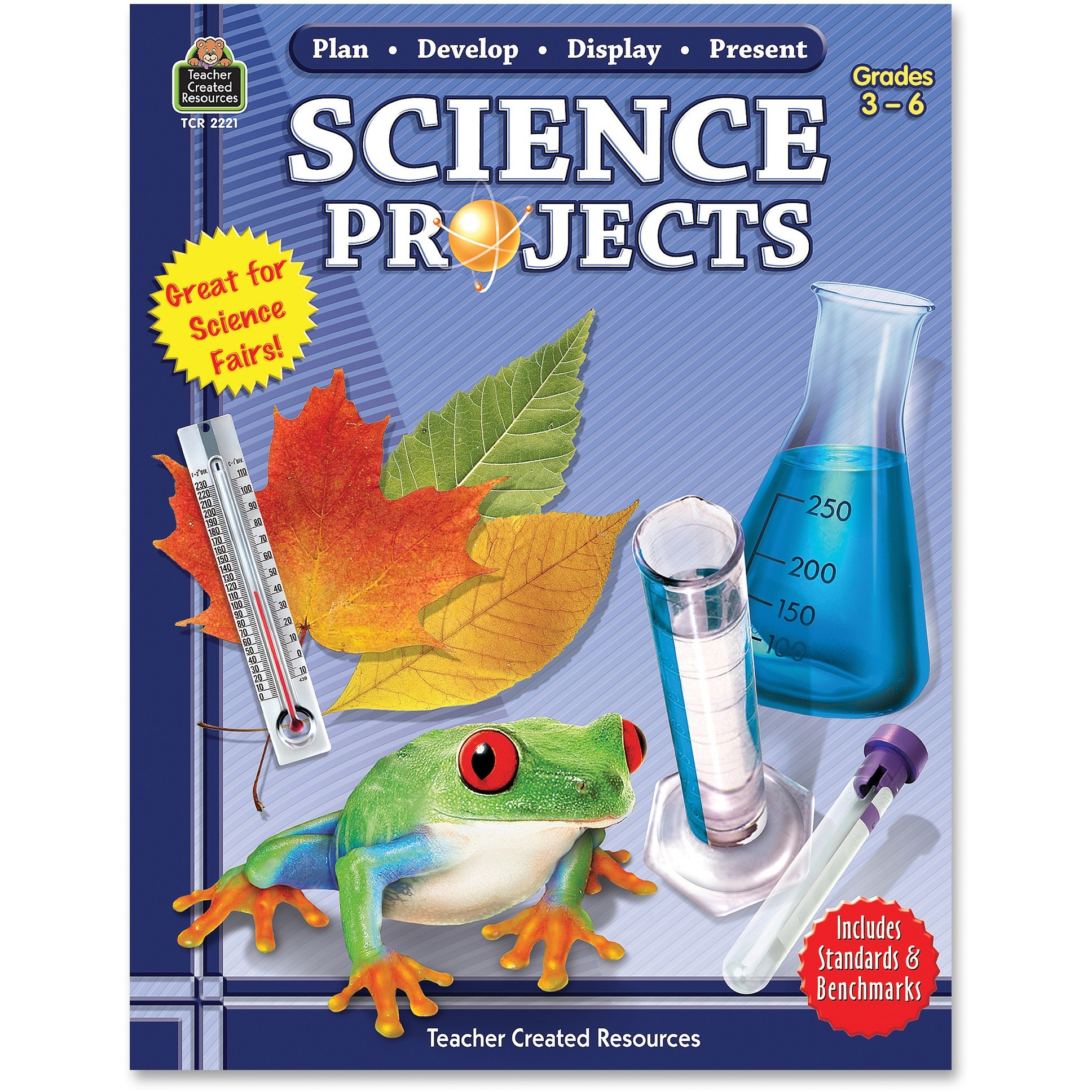 Teacher Created Resources, TCR2221, Gr 3-6 Science Projects Book, 1 Each