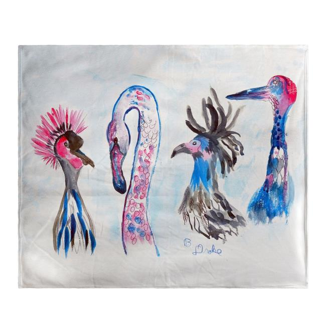 Betsy Drake BK829 Loony Birds Fleece Throw