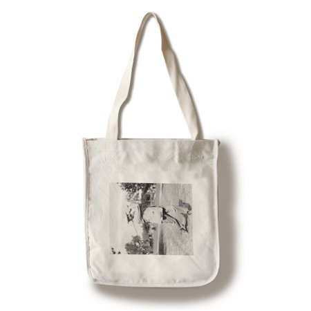 Rat Bag - Golfer Ted Ray Swinging a Club - Vintage Photograph (100% Cotton Tote Bag - Reusable)