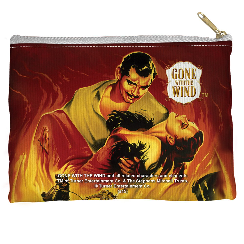 Gone With The Wind Fire Poster Accessory Pouch White 8.5X6