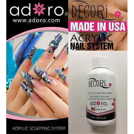 2 Oz Monomer Liquid Adoro Professional Acrylic Nail Made Usa Like Mia Secret Free Temporary Body