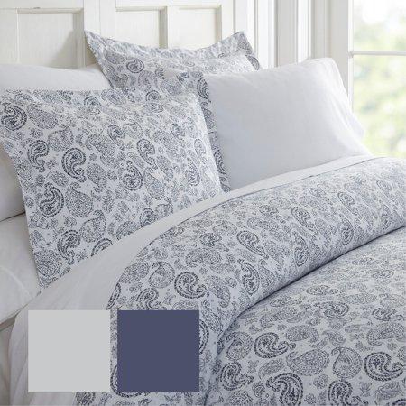 Merit Linens  Premium Ultra Soft 3 Piece Coarse Paisley Print Duvet Cover Set ()