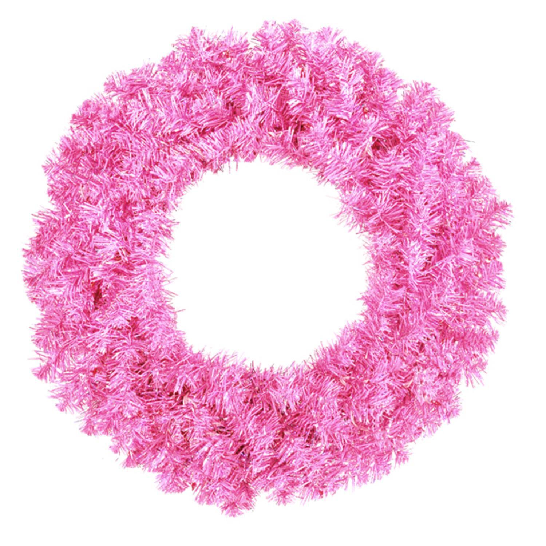 "Allstate 36"" Unlit Sparkling Hot Pink Artificial Christmas Wreath"