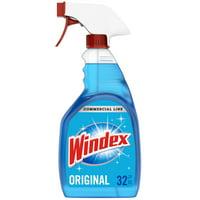 Windex Commercial Line Glass Cleaner Trigger Bottle, Blue Original, 32 fl oz
