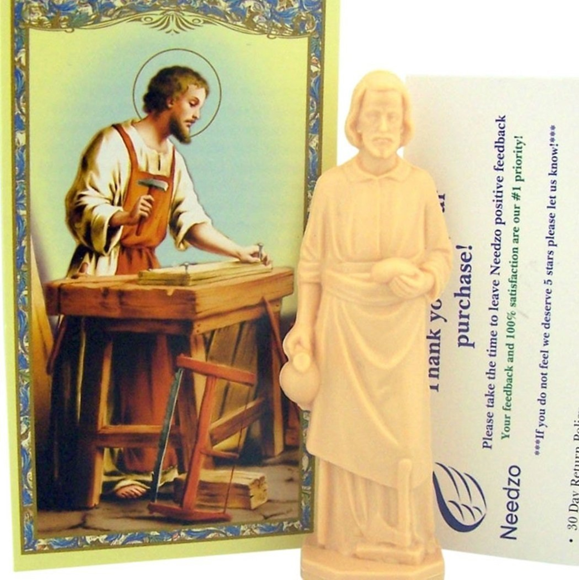 Home Seller Kit Saint Joseph Statue with Holy Prayer Card and Instructions, 3 Inch by Needzo Inc