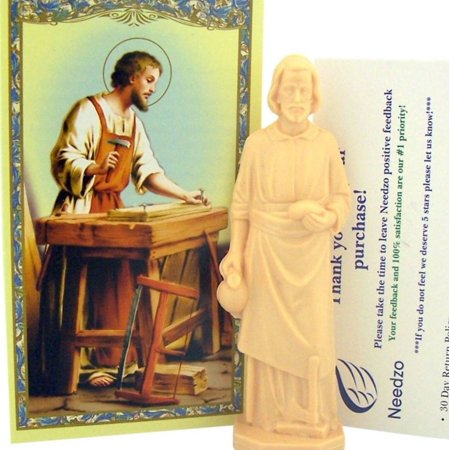 Home Seller Kit Saint Joseph Statue with Holy Prayer Card and Instructions, 3 Inch