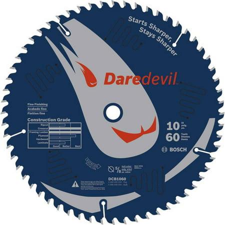 Bosch DCB1060 Daredevil 10 in. 60 Tooth Fine Finish Circular Saw Blade ()