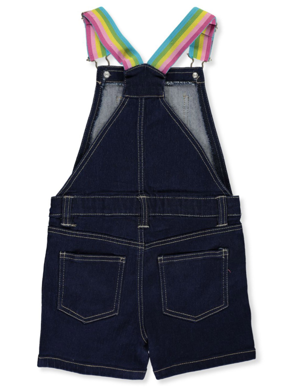 dELiAs Girls Denim Shortalls with Adjustable Straps
