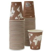 Eco-products Renewable Resource Hot Drink Cups - 8 Oz - 500 / Carton - Plum - Polylactic Acid [pla], Resin, Paper, Biopolymer, Plastic - Hot Drink, Coffee, Tea (epbhc8wact)