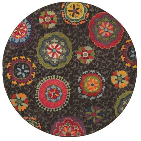 Sphinx Kaleidoscope Area Rugs - 2060V Transitional Casual Multi Washed Antiqued Floral Squares Rug