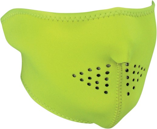 Zan Headgear Half Face Neoprene Mask Hi-Viz Lime by Zan Headgear