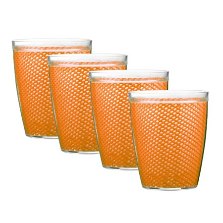 Green Juice Tumbler (Kraftware Fishnet 14 oz. Doublewall Drinkware - Set of 4 )
