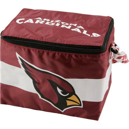NFL - Arizona Cardinals Lunch Bag: 6 Pack Zipper Cooler