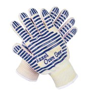 Azzel Glove Resistant Oven Mitts with Fingers, Extreme Heat Up to 932F, Blue