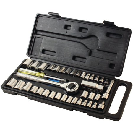 Schedule 40 Pvc Socket - HB Smith Tools 79940 40-Piece Drop-Forged Socket Set