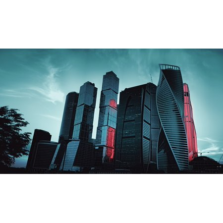 LAMINATED POSTER Megalopolis 2017 Russia Skyscraper Moscow City Poster Print 24 x 36](Party City Online Coupons 2017)