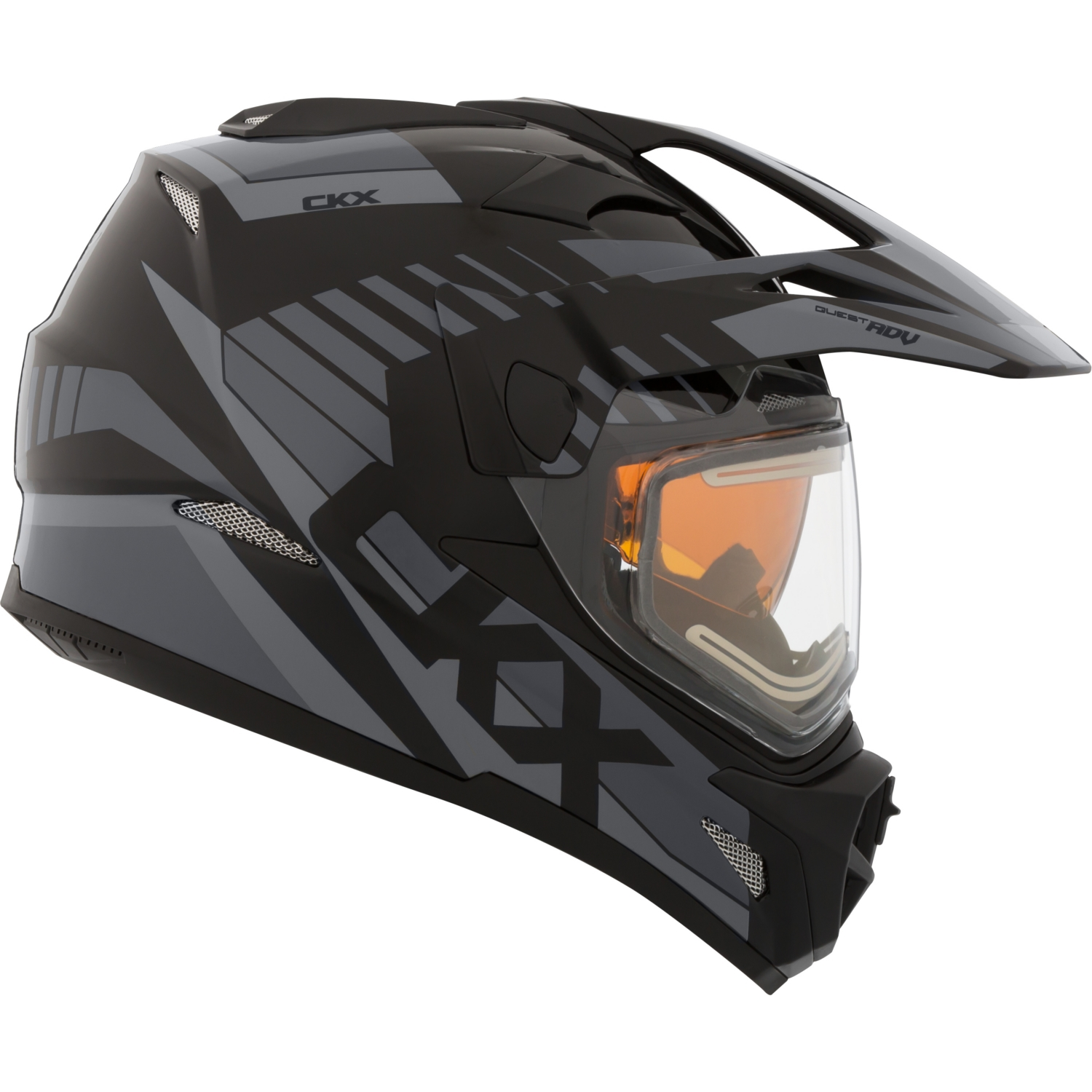 CKX Rocket Quest RSV Off-Road Helmet, Winter Electric Double Shield