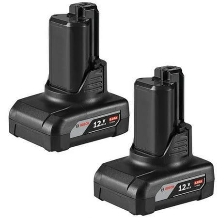 Bosch GBA12V60 2 Pack of Genuine OEM 12V Max 6Ah Li-Ion Batteries # -