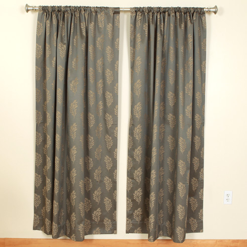 The Pillow Collection Leaves Rod Pocket Curtain Panels (Set of 2)