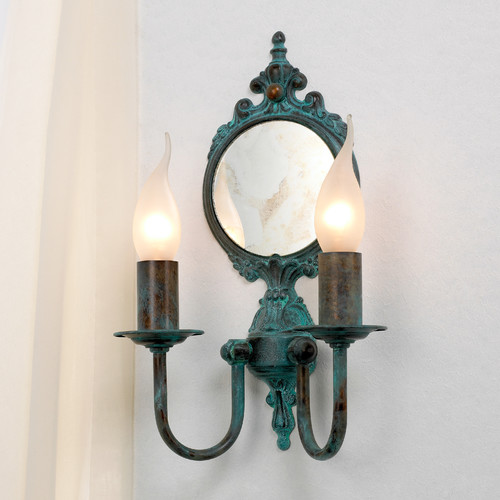 Lustrarte Lighting Classic Candle 2 Light Wall Sconce