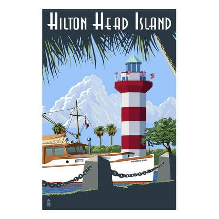 Harbor Town Lighthouse (Hilton Head Island, SC - Harbour Town Lighthouse Print Wall Art By Lantern)