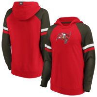 Tampa Bay Buccaneers Fanatics Branded Women's Best In Stock Pullover Hoodie - Red/Pewter