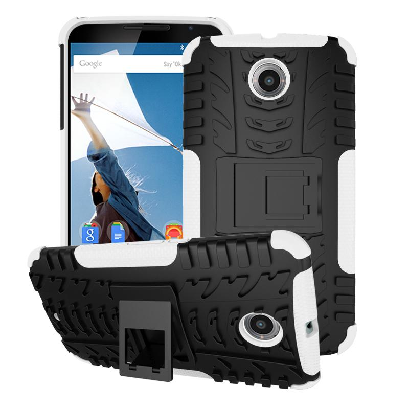 Nexus 6 Case - roocase Tough Armor Hybrid Nexus 6 2014 Dual Layer Rugged Case Cover with Kickstand roocase for Google Nexus 6 Phone 5.9-inch (2014)