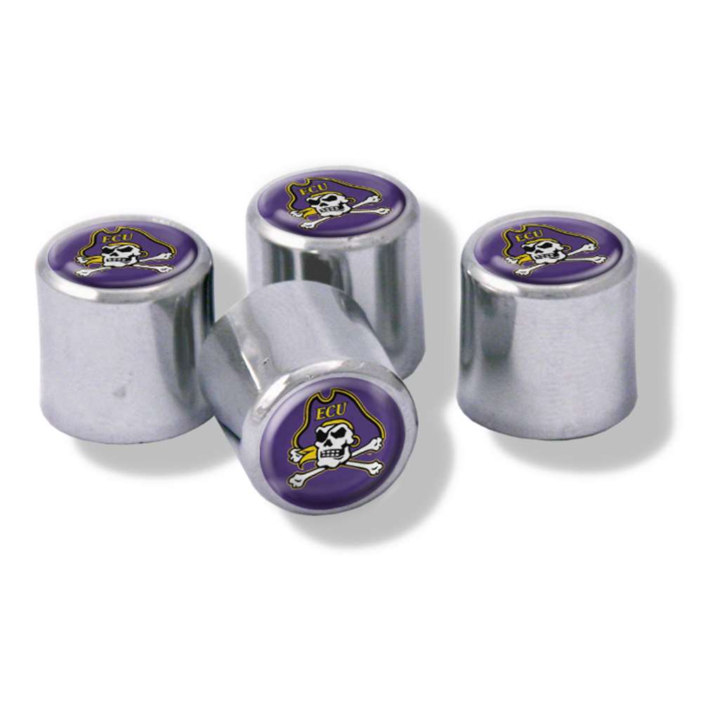 East Carolina Pirates Domed Valve Stem Caps
