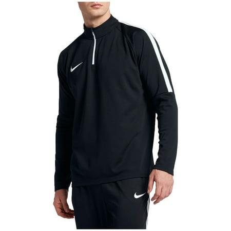 (Nike Men's Dry Academy Drill Long Sleeve Quarter Zip Soccer Shirt - Black/White/ - Size S)