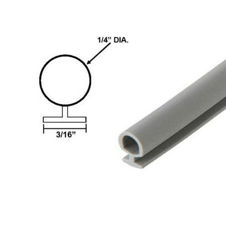Automotive Grey Bulb Type Gasket, 1/4