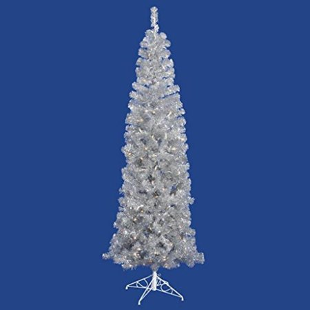 Vickerman 5.5' Silver Pencil Artificial Christmas Tree with 250 Warm White LED Lights - image 1 of 1