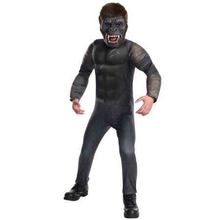 King Kong Mask (Boys King Kong Skull Island Halloween Costume Gorilla Medium)