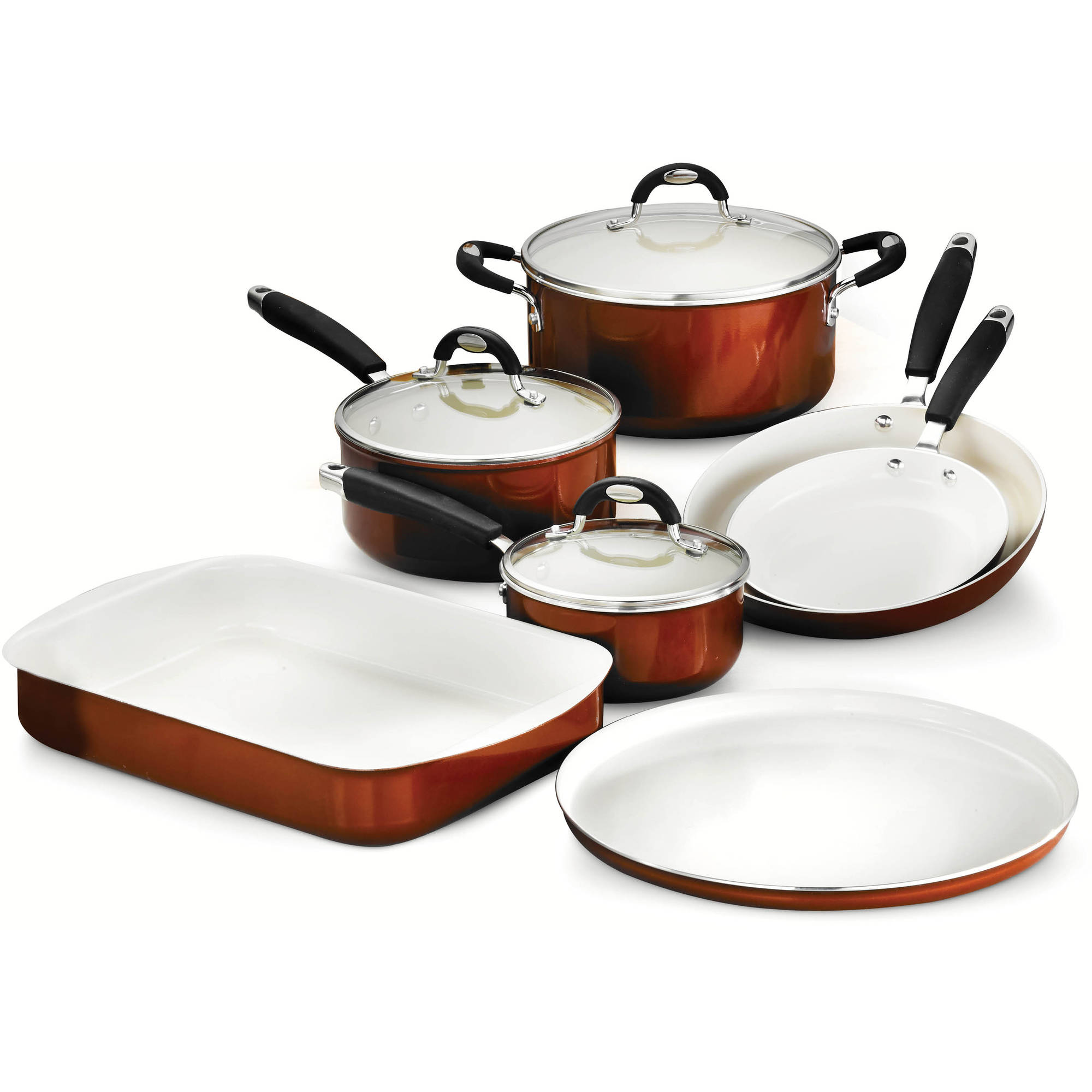 Tramontina Style 10-Piece Cookware/Bakeware Set, Metallic Copper