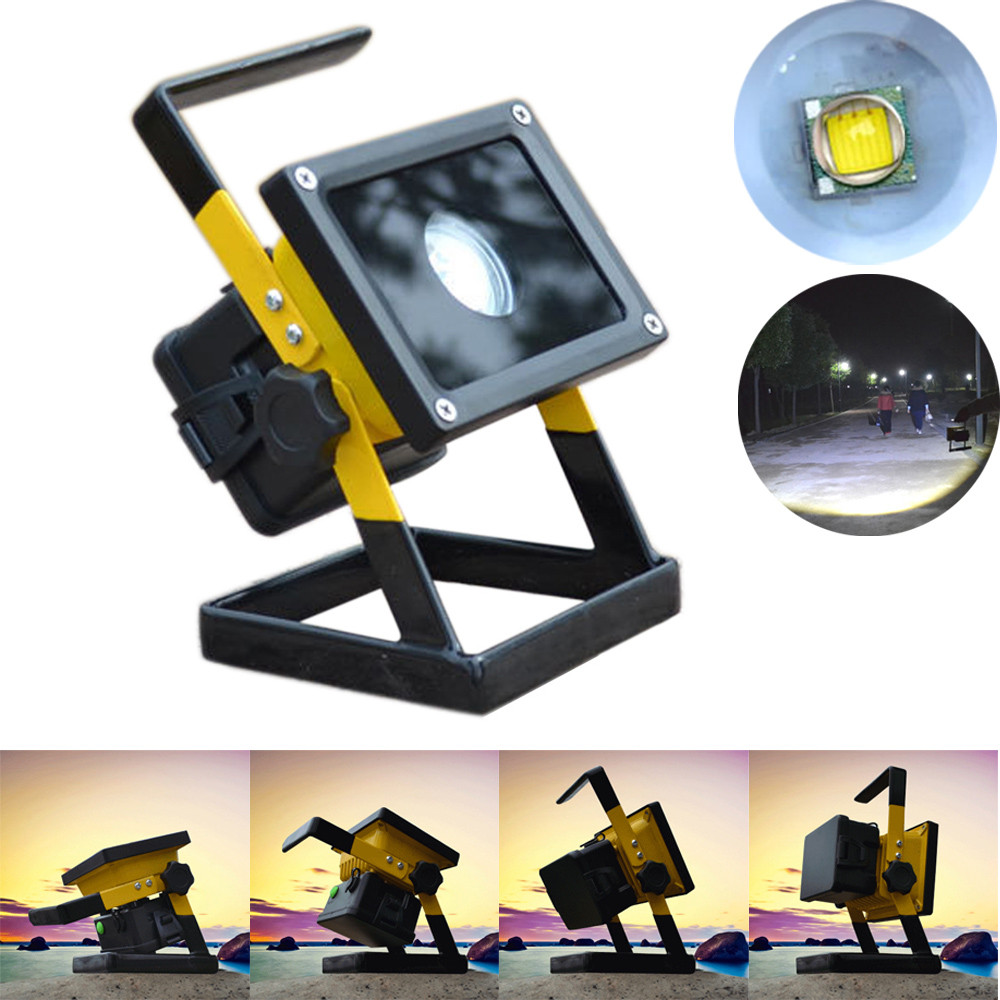 Rechargeable 30W 2400LM T6 LED Floodlight Work Light Cara...