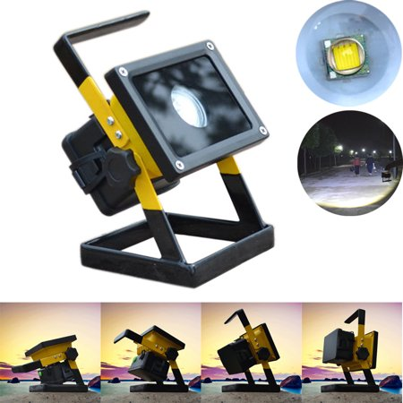 Rechargeable 30W 2400LM T6 LED Floodlight Work Light Caravan Camping Lamp