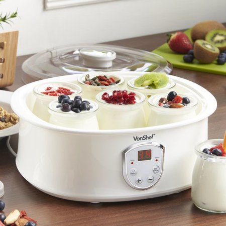 Vonshef Automatic Digital 1 3 Qt  Yogurt Maker With Lcd Display Screen