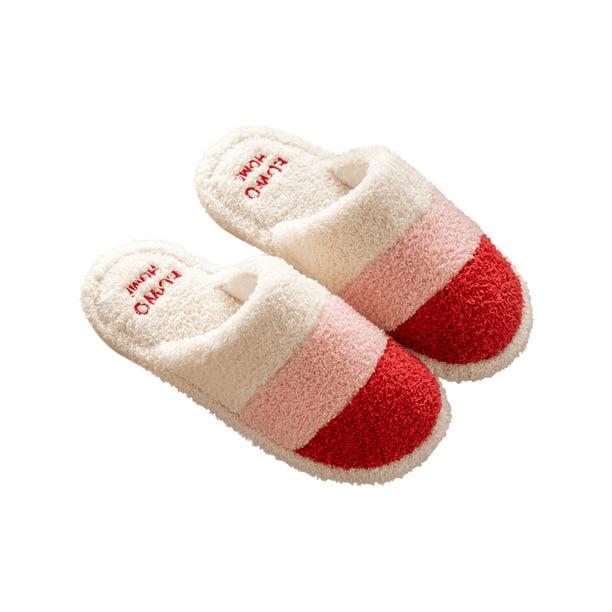Captis Captis Plush Fuzzy Slippers For Women Slip On Indoor Winter House Slippers Women S Bedroom Slippers Shoes Walmart Com Walmart Com