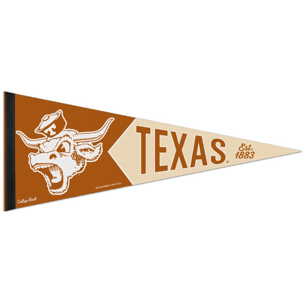 Texas Longhorns Official NCAA 12 inch  x 30 inch  Premium Pennant by Wincraft